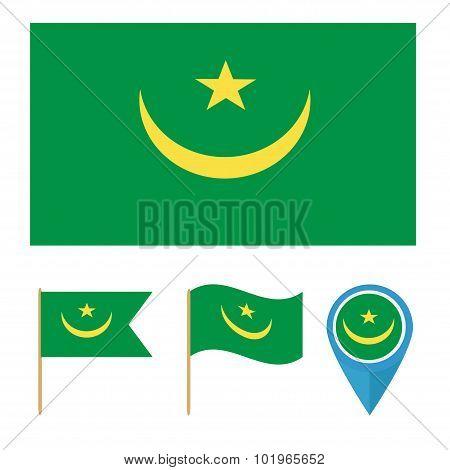 Mauritania,country Flag