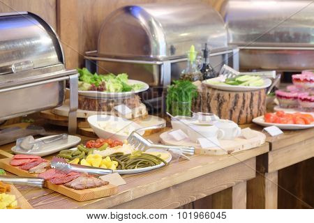 Buffet style lighter fare