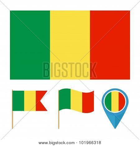 Mali,country Flag