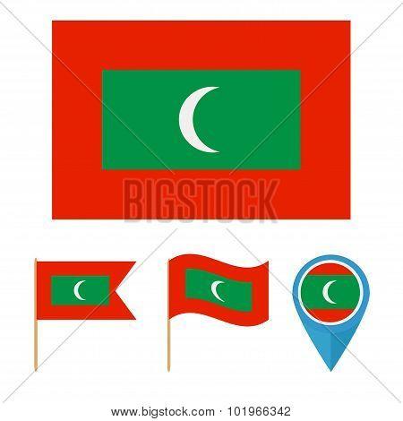 Maldives,country Flag