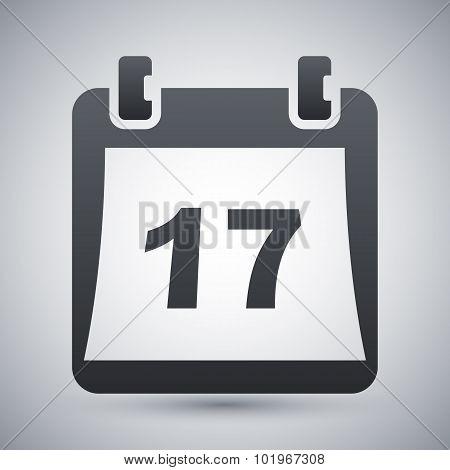 Simple Calendar Icon, Vector Illustration