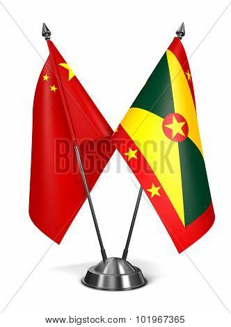 China and Grenada - Miniature Flags.