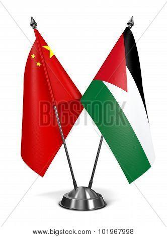 China and Jordan - Miniature Flags.