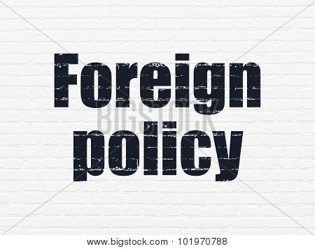 Political concept: Foreign Policy on wall background