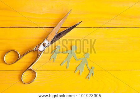 Scissors And  Paper Cut People