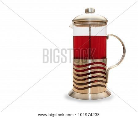 French press for making coffee and tea