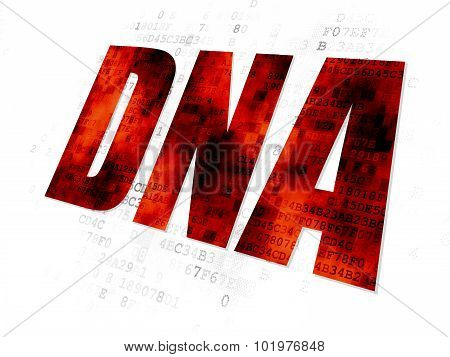 Health concept: DNA on Digital background