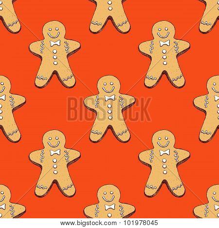 Sketch Ginger Man Cookie