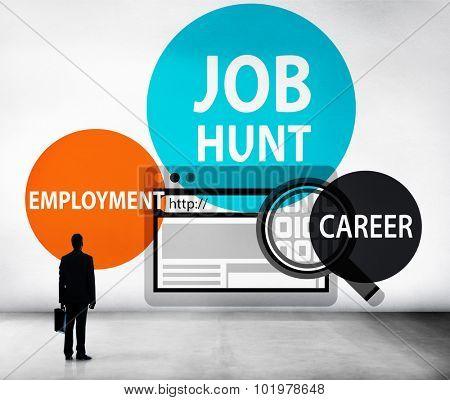 Job Hunt Employment Career Recruitment Hiring Concept