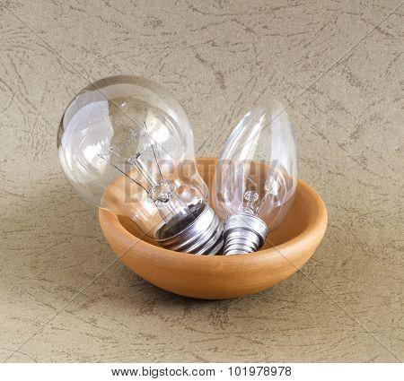 Light Bulb In Ceramic Bowl