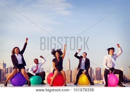 Business People of New York City Skyline Concept