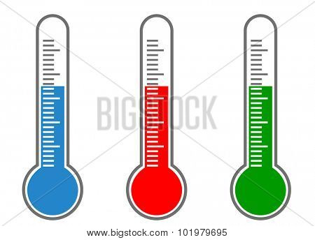 Thermometer vector icons,, vector eps10