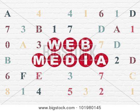 Web development concept: Web Media on wall background