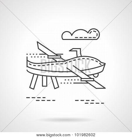 UAV  thin line vector icon