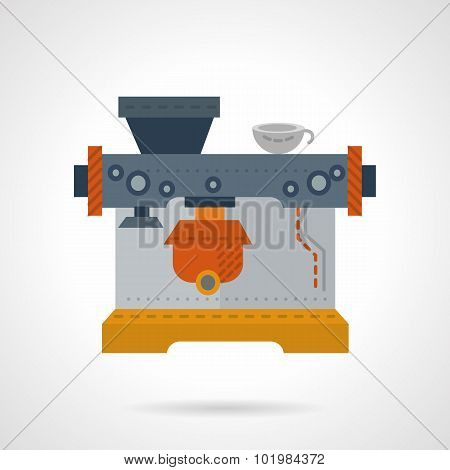 Coffee shop equipment flat color vector icon