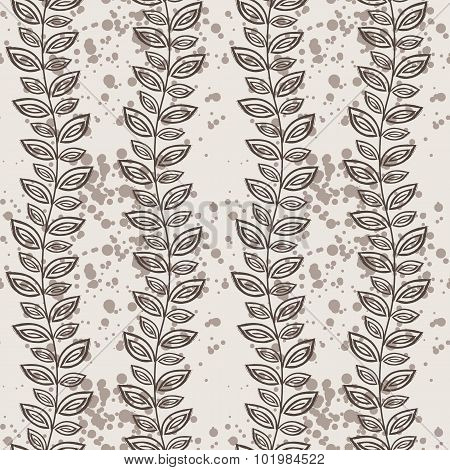 Vector seamless pattern of vines and leaves