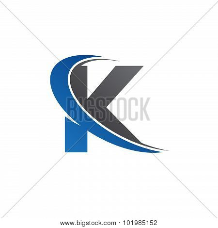 K blue swoosh logo