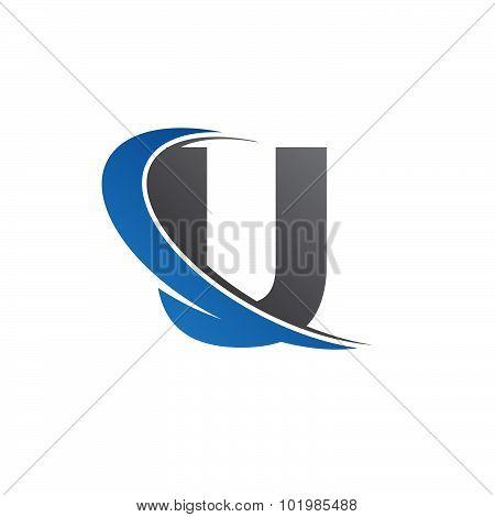 U blue swoosh logo