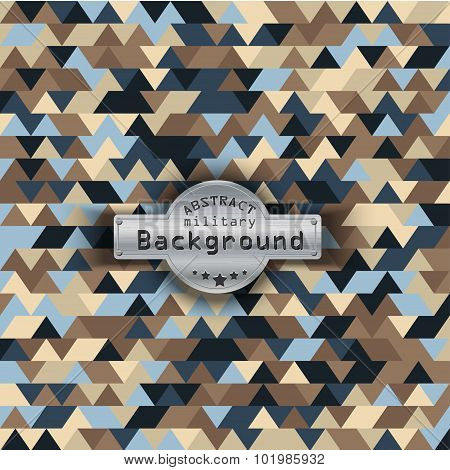 Camouflage military triangle pattern background. Vector illustration, EPS10