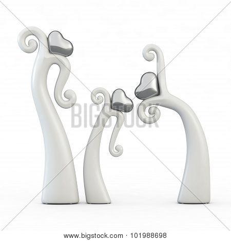 Figurine Dancing heart