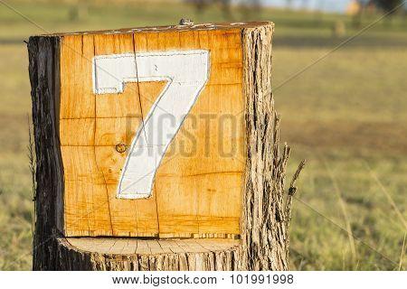 Sign Number Seven 7