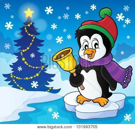 Christmas penguin topic image 2 - eps10 vector illustration.