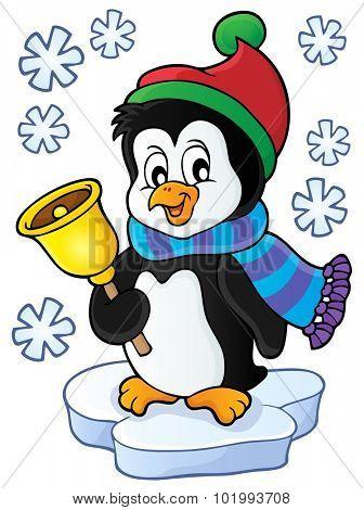 Christmas penguin topic image 1 - eps10 vector illustration.