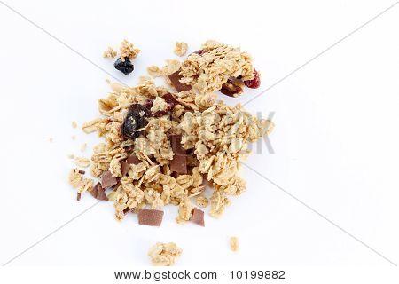 Granola On White Background