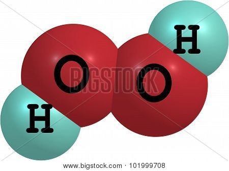 Hydrogen peroxide is a strong oxidizer. It is a colorless liquid slightly more viscous than water