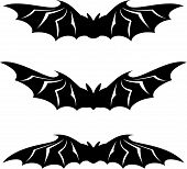 stock photo of bat wings  - Bats illustration collection  - JPG