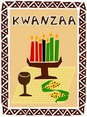 picture of table manners  - traditional kwanzaa stuff drawn in simple manner - JPG
