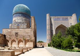 picture of samarqand  - View from Bibi - JPG