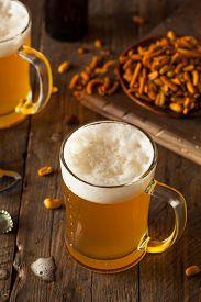 foto of stein  - Golden Beer in a Glass Stein for Oktoberfest  - JPG