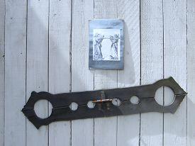 foto of torture  - instrument of torture for arguing people in castle - JPG