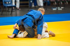 stock photo of judo  - Judo Japanese martial art and combat sport sports without arms  - JPG