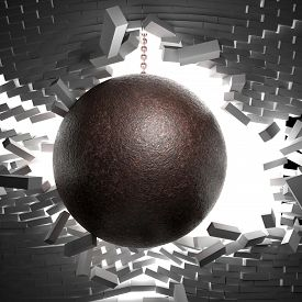 pic of ball chain  - 3d image of huge ball and chain - JPG