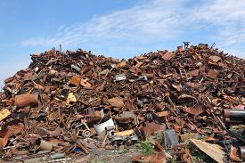 pic of scrap-iron  - Heap of scrap metal ready for recycling - JPG