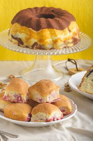 image of grandma  - Poppy seeds cake stuffed buns homemade like from grandma - JPG
