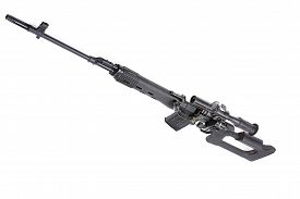 picture of sniper  - Russian sniper rifle MMG SVD by Dragunov with optics - JPG