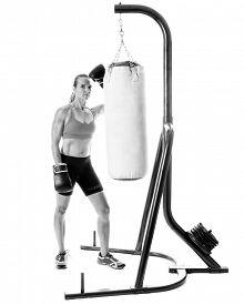 stock photo of heavy bag  - Heavy bag exercise - JPG