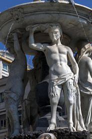 pic of trident  - The Fountain of Neptune in Naples Italy was built by Giovanni Domenico D - JPG