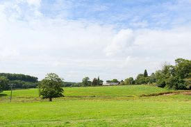 pic of hamlet  - French landscape with hamlet in Limousin - JPG