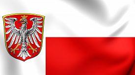 image of frankfurt am main  - 3D Flag of Frankfurt am Main Germany - JPG
