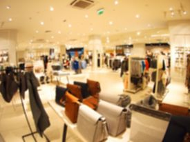 image of distort  - Blurred and defocused view of the female shop with women - JPG