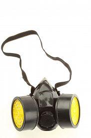 stock photo of respirator  - Respirator isolated on plain background - JPG