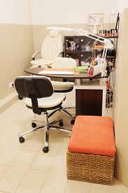 picture of beauty salon interior  - interior of a beauty salon - JPG