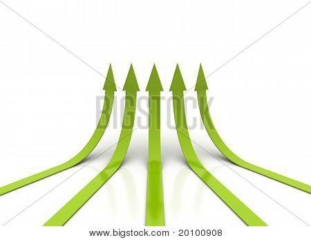 Green Arrows Going Up