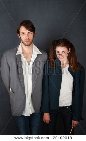 Uncomfortable Couple
