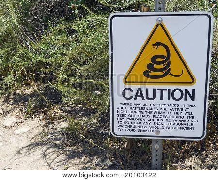 Rattlesnake Caution Sign