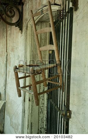 Hanging Wooden Chair